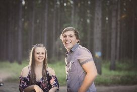 Pine forest Engagement session